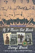 If I never get back : a novel
