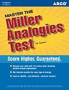 Master the Miller analogies test, 2005