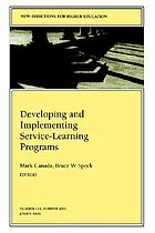 Developing and implementing service-learning programs
