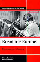Breadline Europe : the measurement of poverty