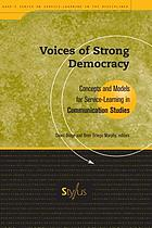 Voices of strong democracy : concepts and models for service-learning in communication studies