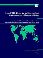 Is the PRGF living up to expectations? : an assessment of program design