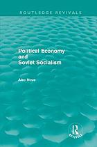 Political economy and Soviet socialism