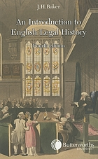 An introduction to English legal history