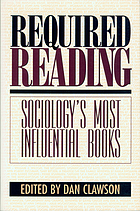 Required reading : sociology's most influential books