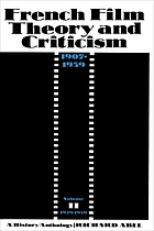 French film theory and criticism : a history/anthology, 1907-1939