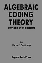 Algebraic coding theory