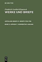Werke und Briefe : historisch-kritische AusgabeApparat, Kommentar, Anhang