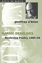 Bardic deadlines : reviewing poetry, 1984-95