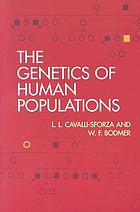 The genetics of human populations