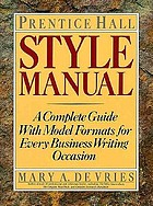 Prentice Hall style manual