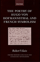 The poetry of Hugo von Hofmannsthal and French symbolism