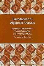 Foundations of algebraic analysis