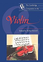 The Cambridge companion to the violin