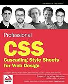 Professional CSS cascading style sheets for Web design