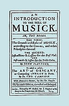 An introduction to the skill of musick