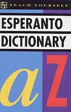 The E.U.P. concise Esperanto and English dictionary