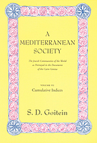 A Mediterranean society the Jewish communities of the Arab world as portrayed in the documents of the Cairo Geniza