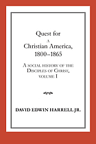 A social history of the disciples of Christ
