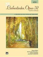 Liebeslieder, Opus 52 (Love Songs) : Conductor/Piano
