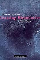 Crossing boundaries : selected writings