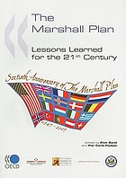 The Marshall Plan : lessons learned for the 21st century