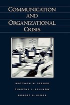 Communication and organizational crisis