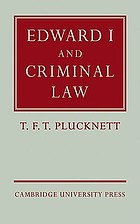 Edward I and criminal law