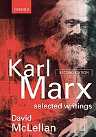 Karl Marx : a reader