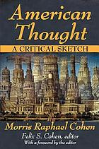 American thought; a critical sketch