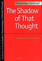 The shadow of that thought : Heidegger and the question of politics