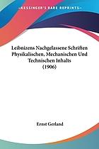 Nachgelassene Schriften physikalischen, mechanischen und technischen Inhalts