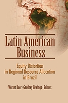 Latin American business : equity distortion in regional resource allocation in Brazil