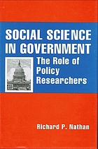 Social science in government : the role of policy researchers