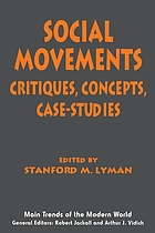 Social movements : critiques, concepts, case-studies