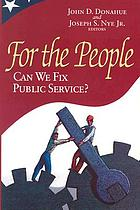 For the people can we fix public service