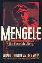 Mengele : the complete storyMengele : the complete story