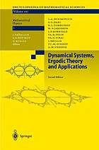 Dynamical systems, ergodic theory, and applications