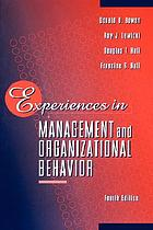 Experiences in management and organizational behavior