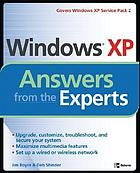 Windows XP : answers from the experts