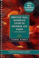 Prentice Hall reference guide to grammar and usage : with exercises