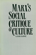 Marx's social critique of culture
