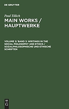 Writings in the social philosophy and ethics