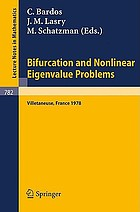 Bifurcation and nonlinear eigenvalue problems : proceedings, Univ. de Paris 13, Villetaneuse, France, Oct. 2-4, 1978