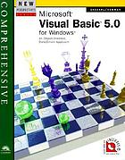 New perspectives on Microsoft Visual Basic 5.0 for Windows : comprehensive