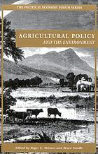 Agricultural policy and the environment