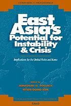 East Asia's potential for instability & crisis : implications for the United States and Korea