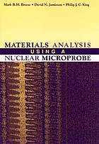 Materials analysis using a nuclear microprobe