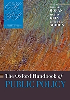 The Oxford handbook of public policy