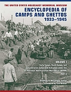 The United States Holocaust Memorial Museum encyclopedia of camps and ghettos, 1933-1945